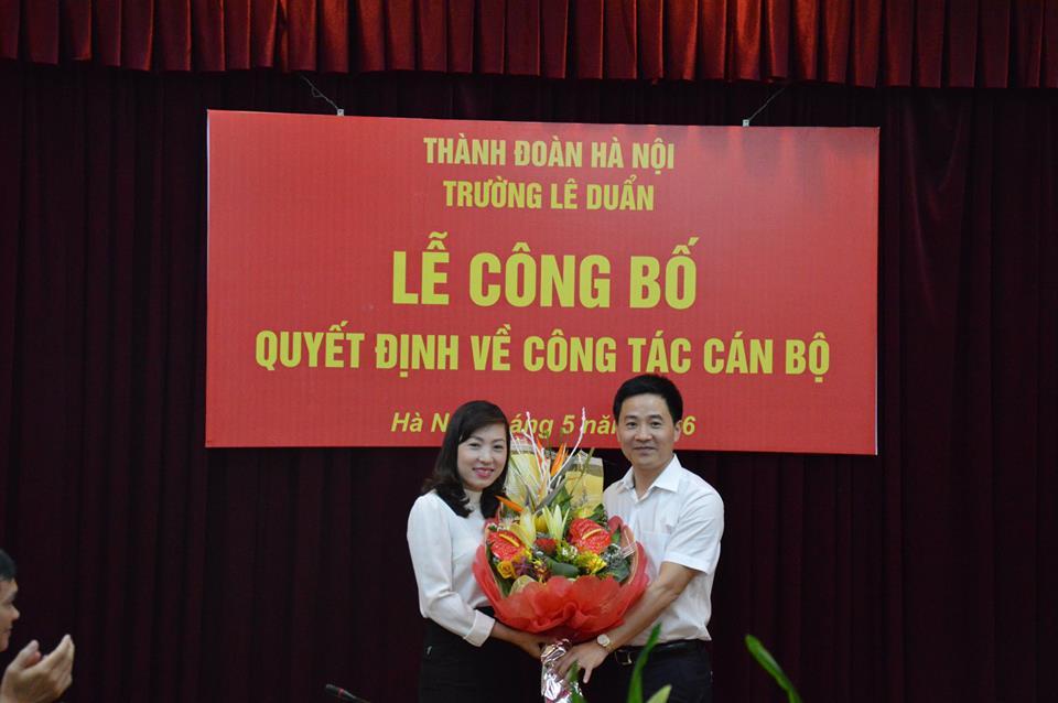 Công bố quyết định bổ nhiệm Phó Hiệu trưởng trường Lê Duẩn